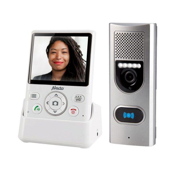 Deurbel met camera en videoscherm, waardoor u op de intercom direct ziet wie er voor de deur staat en u kunt kiezen om de deur te openen.